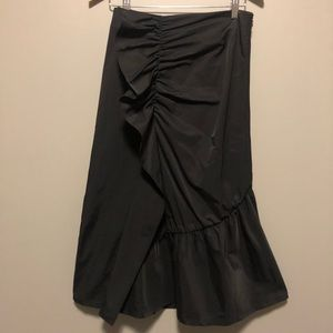 Halogen Skirts - NWOT Halogen Ruffle Front Skirt- Size Four